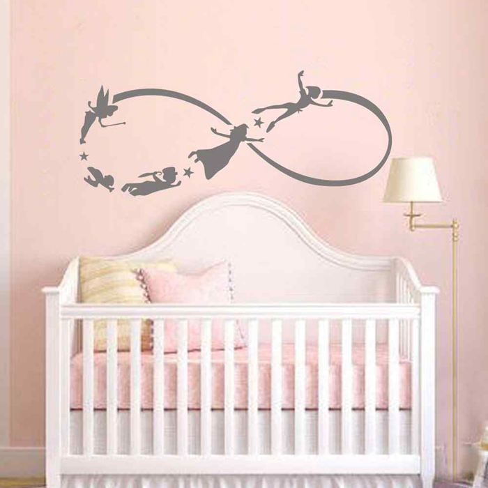 Battoo Peter Pan Wall Decal Children Flying Silhouette Fantasy