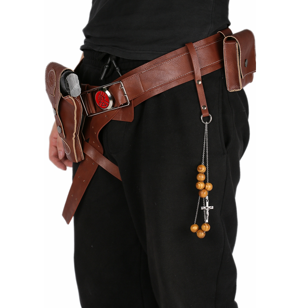XCOSER Halloween Hellboy Belt with Holster PU Props Cosplay Costume Adult Men