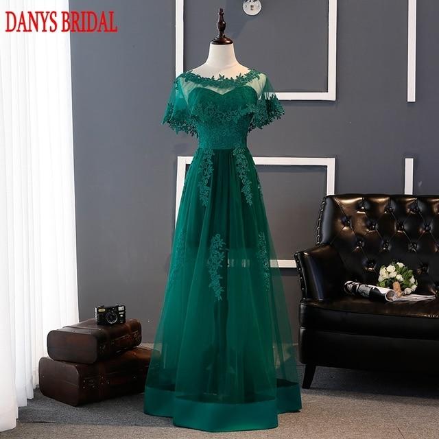 Abendkleid grun mit spitze