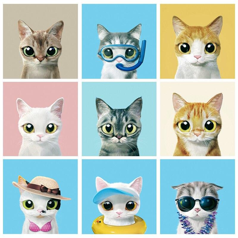 Diamond Painting embroidery 5d Diy Full Square Cartoon Animals Cat - Mosaic Daimond Drill