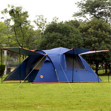 Camel 3-4 person large family tent camping tent one room two hall sun shelter gazebo beach tent for Advertising/exhibition