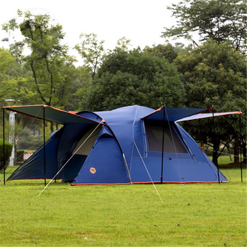 Camel 3-4 person large family tent camping tent one room two hall sun shelter gazebo beach tent for Advertising/exhibition in one person