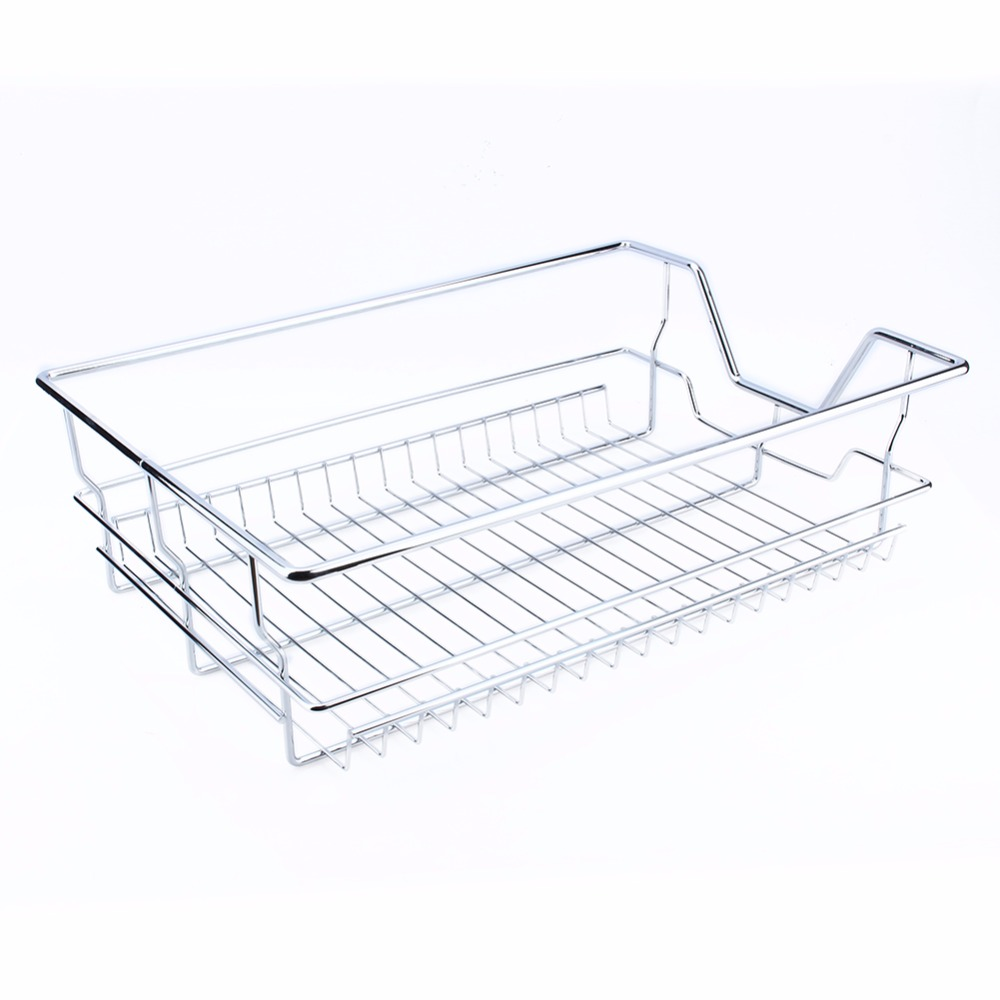 Heavy Duty Kitchen Sliding Cabinet Organizer,Pull Out Chrome Wire ...