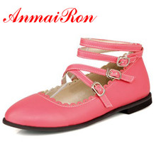 ANMAIRON New Flats Shoes Women High Quality Summer Shoes Casual Dress Shoes New Arrival Sweet Ladies Flats Big Size 34-43