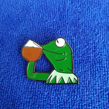 Kermit эмаль лацкан булавка Кнопка милый мягкий Эмаль Булавка Интернет-мем