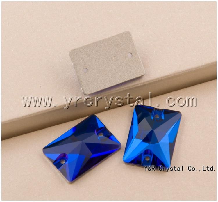 Capri Blue 3250 Rectangle 13x18mm 18x25mm Sewing Crystal Flat Back Rhinestone Stone Sew on Rhinestones Glass Crystals Stones