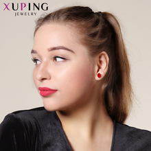 Xuping  8*8mm Studs Earings Fashion Jewelry Crystals from Swarovski Simple Simplicity Multicolor Women Party Gifts M79/M80-20387