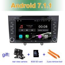 2 ГБ RAM 1024*600 Android 7.1.1 Dvd-плеер Автомобиля Мультимедиа стерео для peugeot 408 308 308SW с Радио Wi-Fi Bluetooth GPS