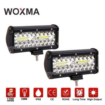 WOXMA работы светодио дный бар 4X4 Offroad свет работы автомобилей светодио дный туман свет мотоцикл 12 В 7 дюймов пикап 4WD Combo Супер ярче дальнего