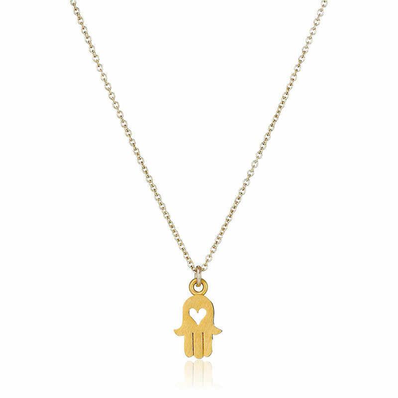 Трендовое сердце золотистого цвета подвеска в виде бергамота ожерелье для женская подвеска-цепочка изысканный набор для женщин украшение для чокера ожерелье 2018