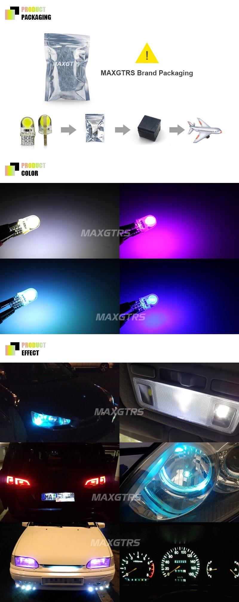 20x T10 194 W5w Mobil Led Cob Silicone Shell Auto Dome Side Lampu Silica Silokon Super Terang Wedge Cahaya Bulb Putih Biru Pink Ice Blue Sumber