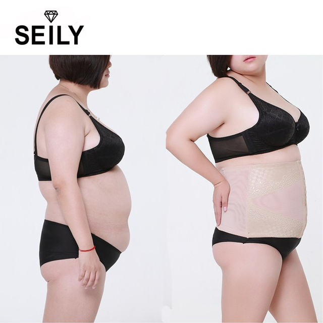 722628c3761e2 Women Plus Size Slimming Body Tummy Control Underwear Waist Trimmer Trainer  Corset Belt Belly Band Shapewear Cinta Modeladora