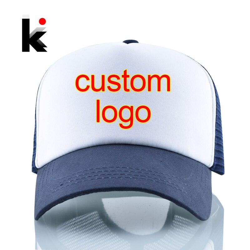 Mesh Hat Snapback-Hats Baseball-Cap Blank Custom-Logo High-Quality Quick Women 1PC Couple