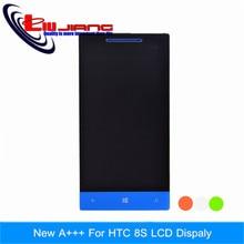 10 pcs novo LCD de toque com digitador para HTC 8 S A620e assembléia LCD para Windows Phone 8 S A620e LCD DHL EMS