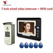 Yobang Security 7″ Color Screen Video Intercom Door Phone 1 Monitors Waterproof Visible wired Home door intercom doorphone