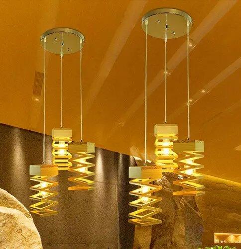 US $99.29 20% OFF|Luxus holz käfig kronleuchter pendelleuchte deluxe  moderne Nordic künstlerische wohnzimmer esszimmer restaurant licht holz ...