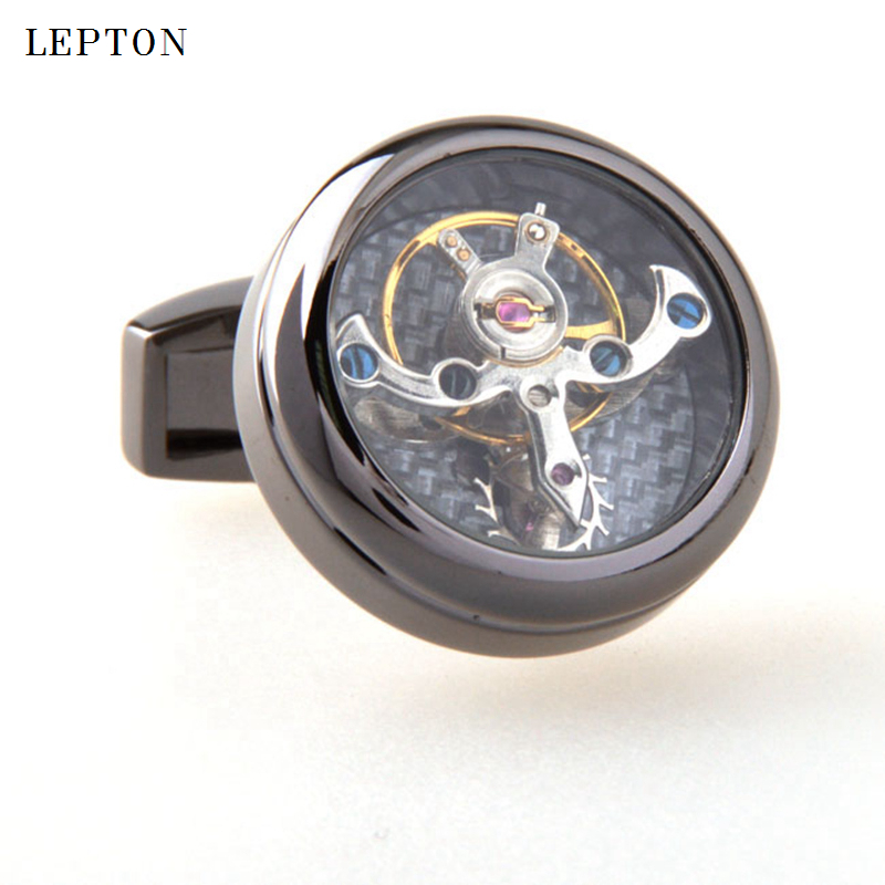 Image 5 - Hot Sale Movement Tourbillon Cufflinks For Mens Lepton High quality Mechanical Watch Steampunk Gear Cuff links Relojes Gemelos-in Tie Clips & Cufflinks from Jewelry & Accessories
