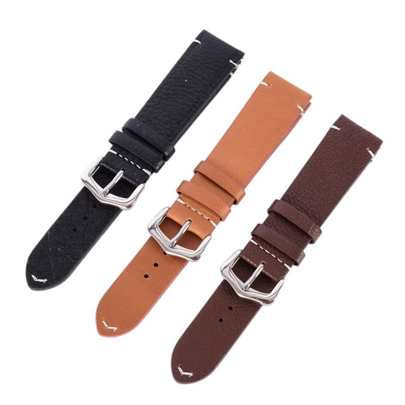 Hot Men Women Vintage Style Faux Leather Watch Strap Band Buckle Belt 18mm 20mm 22mm faux leather strap floral face watch
