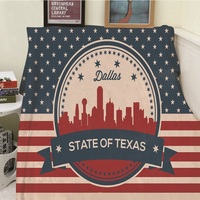 Одеяла cobertor тепло Мягкие плюшевые личность американский флаг Техас полосатый звезда толстый тонкий диван-кровать Пледы A Одеяло красный пл...