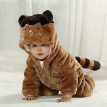 High imitation coon animal design clothes for baby cosplay