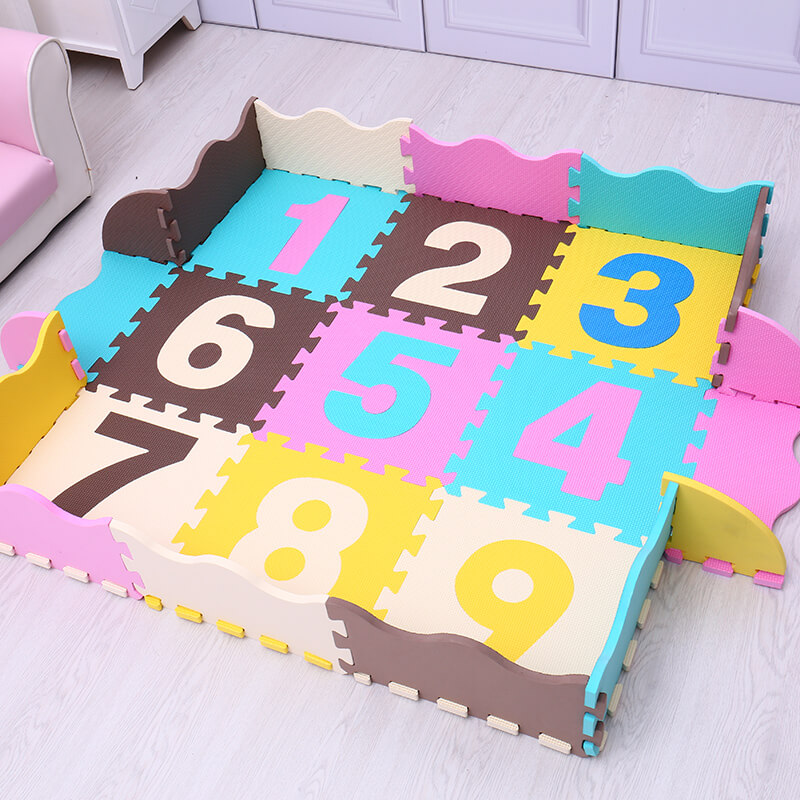 9pcs animals cartoon EVA baby play mat foam puzzle game cushion for kids gift gym baby a ...