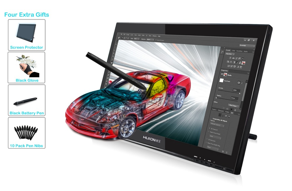 Huion 19 Professional Art Graphics Drawing Pen Display Tablet Monitor GT 190 Limited Time Promotional Gifts