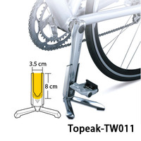 TOPEAK TW011 FlashStand Slim Bicycle Kickstand Crank Stay Bracket Parking Rack Aluminum Road Bike Stand for Repair and Display
