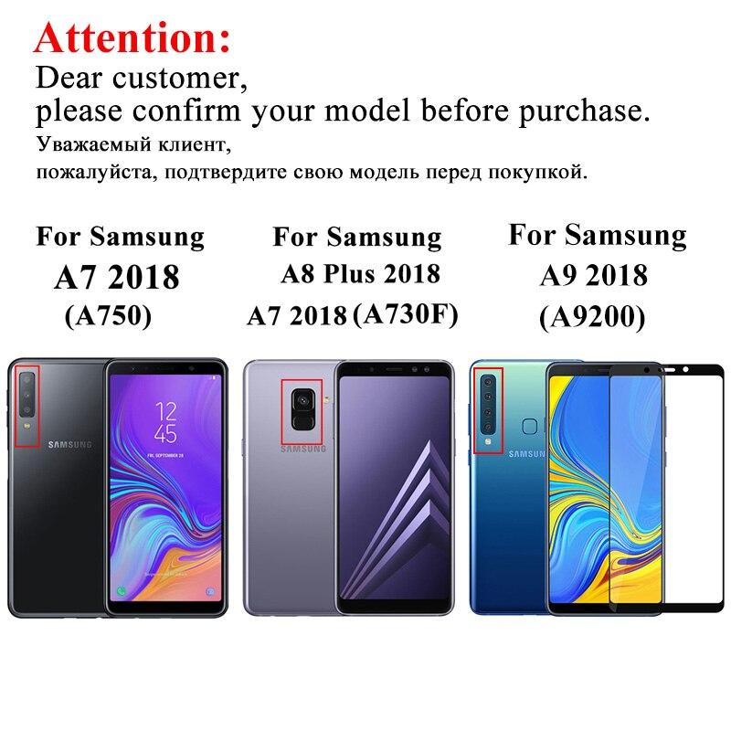 Image 5 - Для samsung galaxy a 9 2018 чехол, закаленное стекло для samsung a9 2018, защитное стекло на galax a92018 a920 a920f пленка-in Защитные стёкла и плёнки from Мобильные телефоны и телекоммуникации