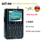 Original WS-6906 3.5 inch LCD satellite finder DVB-S FTA sat finder digital satellite Finder Meter EPG MPEG2 with 3000mA Battery