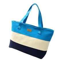 Transer Canvas Shopper Bag Stripe Printing Beach Bags Tote Women Ladies Girls Shoulder bag Casual Shopping Handbag z6 30
