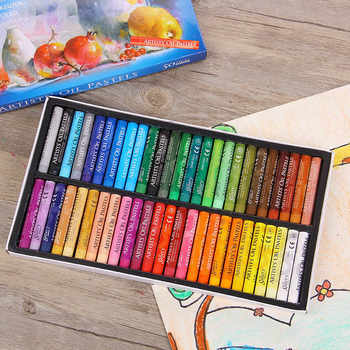 Cute Art Supplies Crayons 50 Colors Soft Oil Pastels For Drawing Set Children Waxes Kids Gift Oil Painting Stick Painting Item - DISCOUNT ITEM  16% OFF All Category