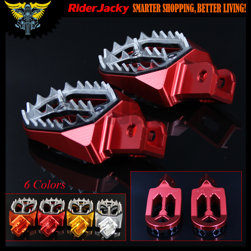 CNC Aluminum Motorcycle Foot Rests FootRest FootPegs Pegs Pedals For Honda CRF230 CRF 230 2003-2009 2004 2005 2006 2007 2008 footpegs aluminum chrome passenger rear footrest pedals left and right front pedals steps for harley 883 1200 sporster 2004 2013