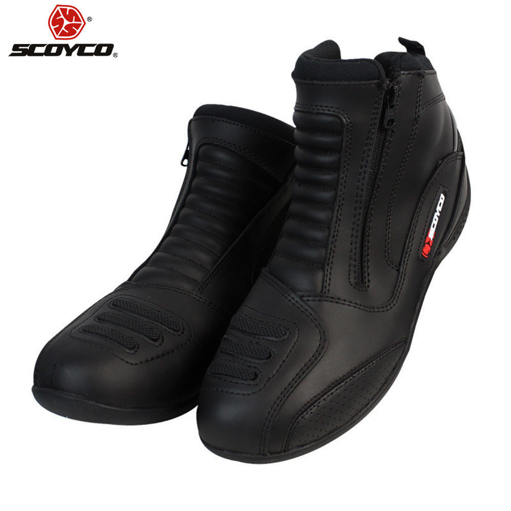 4b88f823422 Motorcycle Boots Short Leather Botas Moto Motocross Bota Motociclista  Stivali Moto MBT002B Road Rinding Shoes-in Motocycle Boots from Automobiles  ...