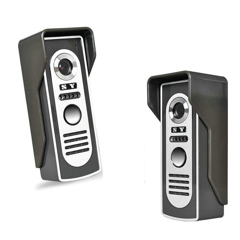 7 Inch Monitor video Door Phone Doorbell system wired Video intercom night vision Aluminium alloy Camera Video doorbell 2-screen