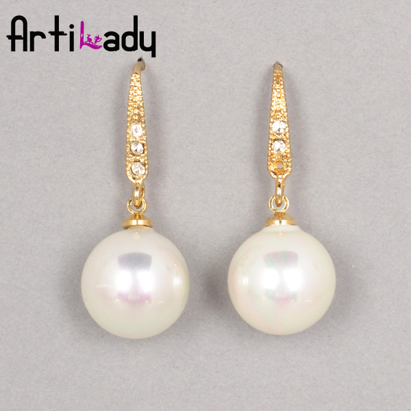 Artilady natural pearl earrings drop summer engagement  earring  womens jewelry pendent earring jewelry 2013 new