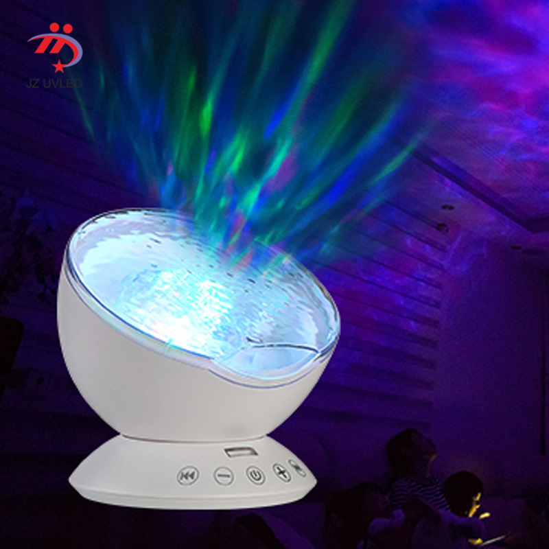 Novelty Magic Sea World LED Projection Light Remote Control Colorful Color Changing Color Romantic Warm Music Playing Sea Bottom