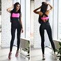 Женщины фитнес комбинезон акцизного боди женщины sexy моды спортивной ползунки спинки выработать одежду общая костюм 593