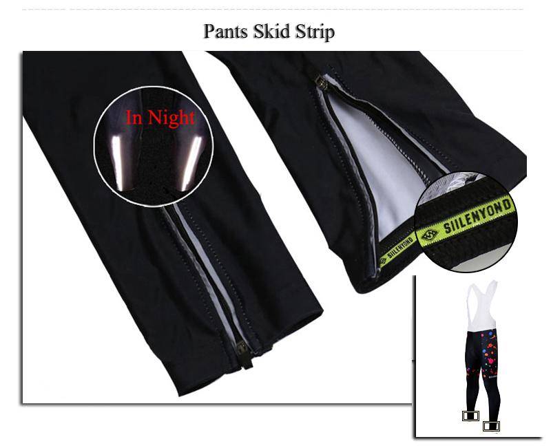 Siilenyond 2019 Women Winter Keep Warm Cycling Pants Thermal Fleece MTB Bike Cycling Trousers With Coolmax 3D Gel Padded 8