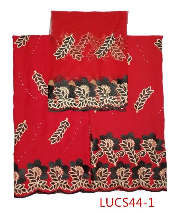Tissu de dentelle de rayonne de coton africain en gros
