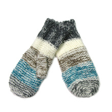 Mittens Gloves For Women Winter Warm Striped Gloves Blue Grey Unique Gift 2017 New Arrivals Knitted Mitten Female Gloves