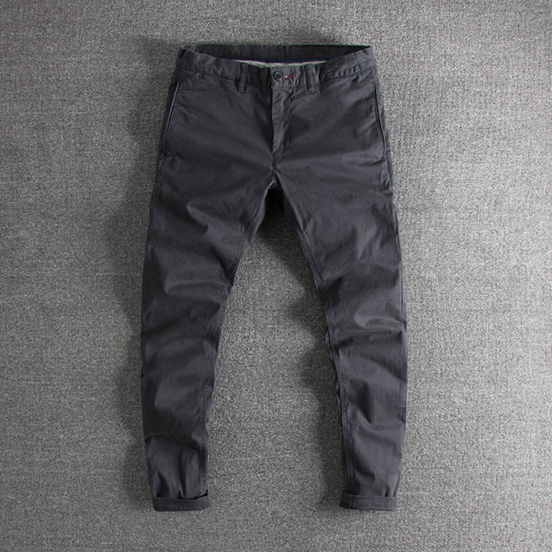 Simple Wash In Europe And The United States To Make Old Pure-color, Self-cultivation, Original Single Men's Casual Trousers Pant
