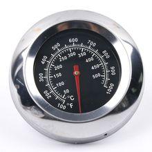1 шт., новинка, аксессуары для барбекю из нержавеющей стали, термометр для курильщика, термометр, датчик температуры, 50-500 градусов Цельсия, инструменты для барбекю
