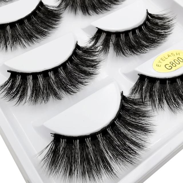 5 Pairs eyelashes 3d mink lashes eyelash extension natural false eyelashes volume lashes maquillaje mink eyelashes makeup cilios 3