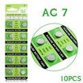 Ycdc poder real para assistir bateria da tecla 1.55 v 10 pcs ag7 SR927SW LR927 LR57 395A 399B SR57 S28 Botão Bateria de Célula Tipo Moeda EE6208