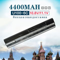 4400 мАч 6 Cell Аккумулятор для Ноутбука Msi Wind U90 U100 U210 U230 BTY-S11 BTY-S12 3715A-MS6837D1 6317A-RTL8187SE