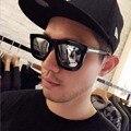 Novo Grande Moldura Quadrada óculos de Seta Óculos de Sol 5069 Retro Colorido Película Reflexiva Acessórios Óculos de Homens Óculos De Sol Das Mulheres Ao Ar Livre