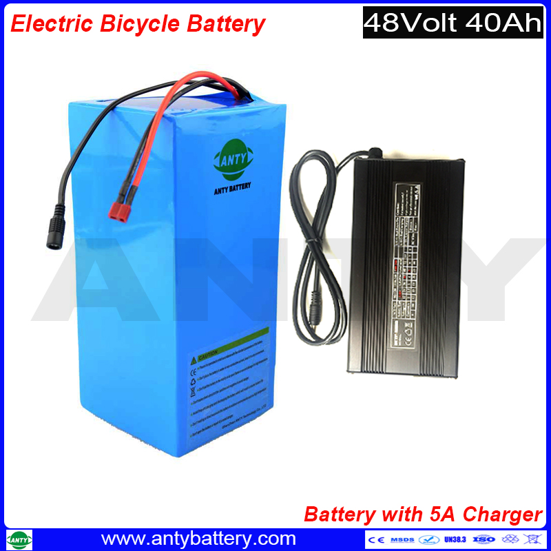 Electric Bike Battery 48v 40Ah 1800w Scooter Lithium Battery Built in 50A BMS with 5A Charger eBike Battery 48v Free Shipping free customs taxes 48v 40ah portable lithium battery with 2000w bms chargrer e bike electric bicycle scooter 48v lithium battery
