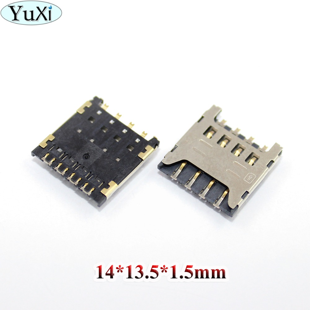 YuXi For Huawei Y625 Y625-U32 Honor 3C HOL t00 U00 T10 U10 for LG F120 F160 Sim Card Reader Tray Holder Connector Socket Slot