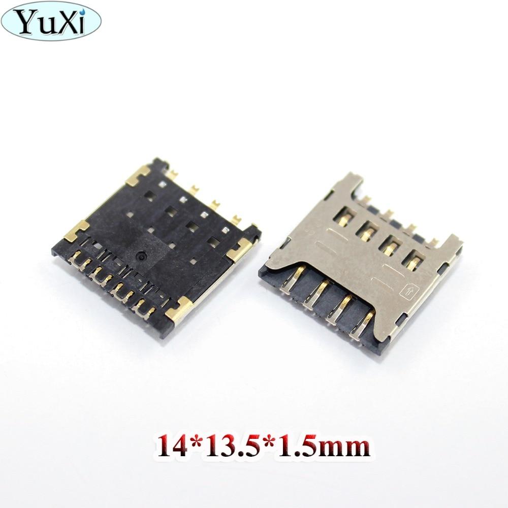 YuXi For Huawei Y625 Y625-U32 Honor 3C HOL t00 U00 T10 U10 for LG F120 F160 Sim Card Reader Tray Holder Connector Socket Slot