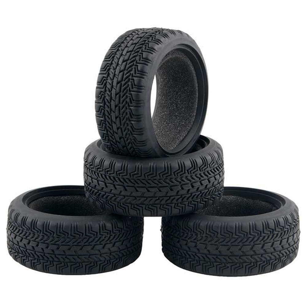 US $4 1 40% OFF|4PCS High Grip Black Rubber Tyre for 1:10 4WD RC On Road  Touring Car Traxxas Tamiya HSP HPI Kyosho 1/10 Tires Parts -in Parts &